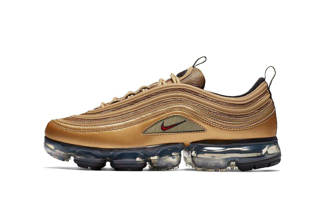 Nike Air VaporMax 97 in Metallic Gold