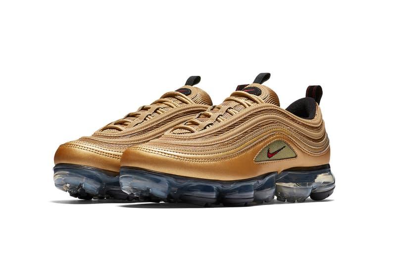 Nike Air VaporMax 97 Metallic Gold footwear 2018 nike sportswear air max 97 air vapormax
