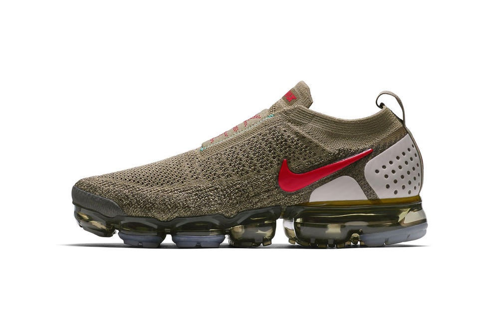 Nike Air VaporMax Moc 2 Olive Red spring summer april 2018 release date info drop sneakers shoes footwear