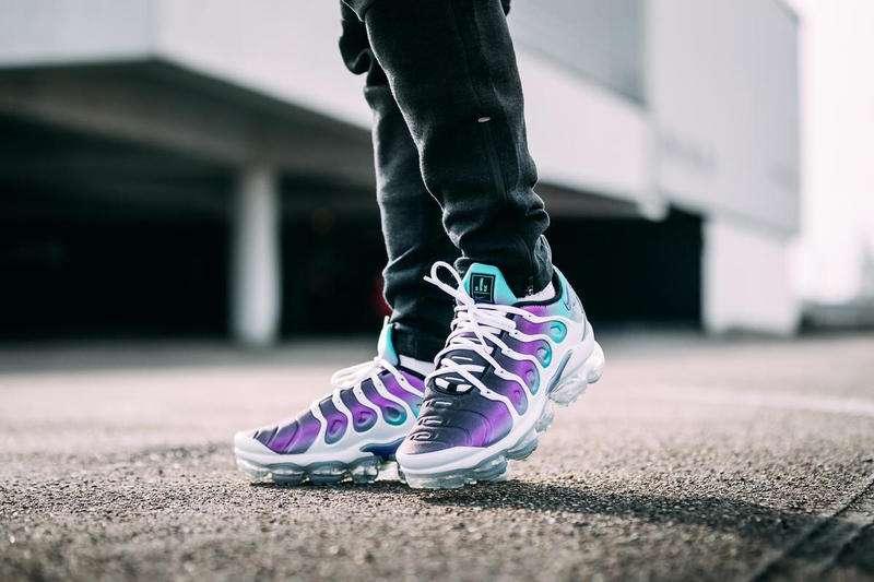 c4374f003e10a Nike Air Vapormax Plus Grape On Feet april 14 2018 release date info drop  sneakers shoes