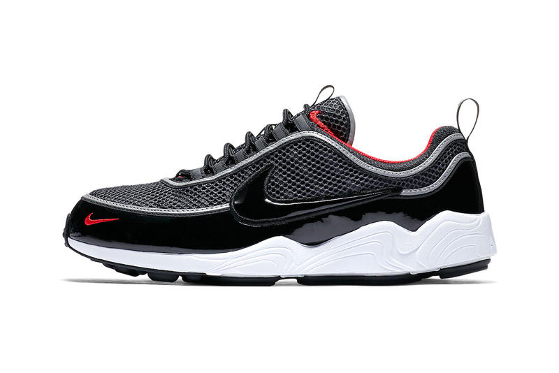 timeless design ed172 ba0d9 Nike Zoom Spiridon patent Black University Red release date info purchase