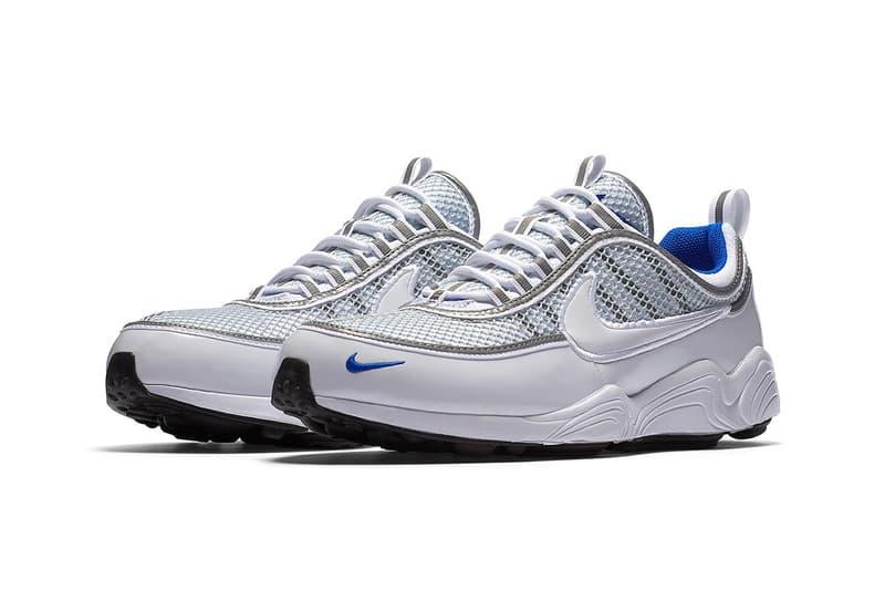 "Nike Air Zoom Spiridon ""White/Platinum Blue"" release date info purchase"