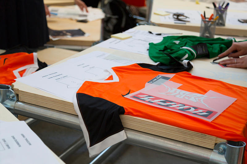 Nike Brothers of the World Football Event soccer jersey Milan Design Week Spazio Maiocchi