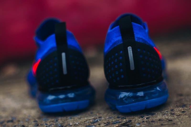 """Nike VaporMax 2 """"Knicks"""" Release new York Kicks basketball racer blue Total Crimson"""