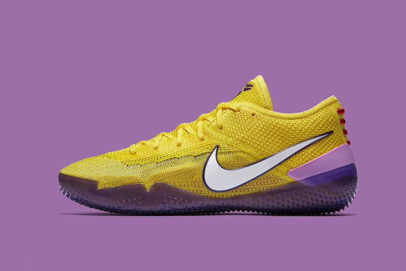 ae461f5df7ce Nike Kobe AD NXT 360 Lakers purple gold footwear Kobe Bryant Los Angeles  Lakers 2018 may