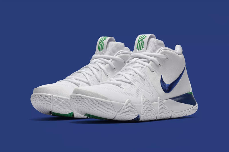 newest 854b9 c6c84 Nike Kyrie 4 White/Deep Royal Blue Release Date | HYPEBEAST