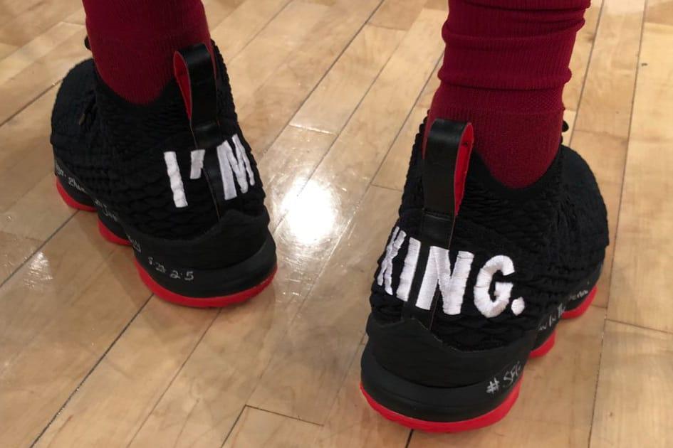 LeBron James Wears Nike LeBron 15 \