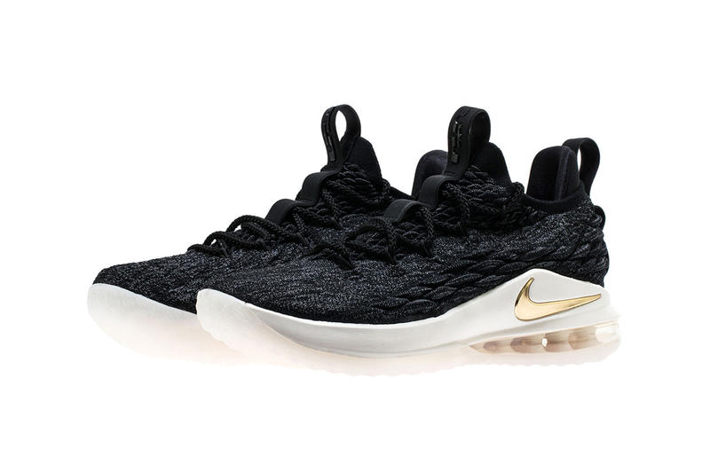 Nike LeBron 15 Low black gold may 2018 lebron james nike basketball may release date info drop sneakers shoes footwear