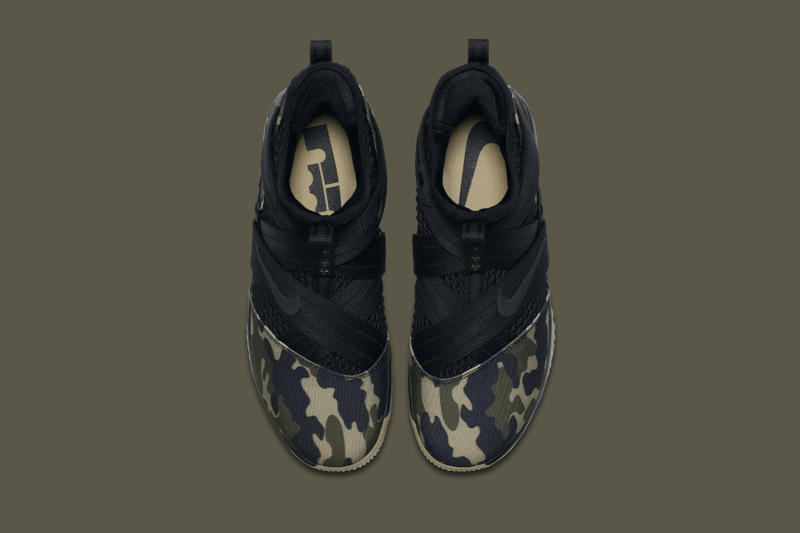 "Nike LeBron Soldier 12 ""Hazel Rush"" Release official look camo strive for greatness camo king james basketball"