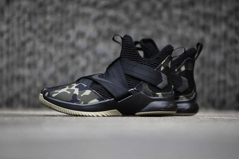 Nike LeBron Soldier 12 Strive For Greatness military camo Release info purchase LeBron James