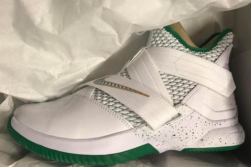 6be83210b8242 Nike LeBron Soldier 12 SVSM Home First Look release white green St.  Vincent–St