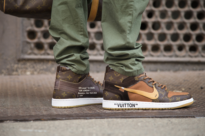 receta Modernizar Mala suerte  Custom Virgil Abloh x Louis Vuitton Nike Sneaker | HYPEBEAST