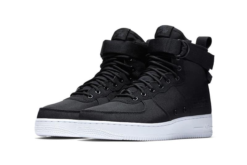 Nike SF-AF1 Mid Black Nylon white sole release date info purchase price drop footwear 2018 spring summer sportswear