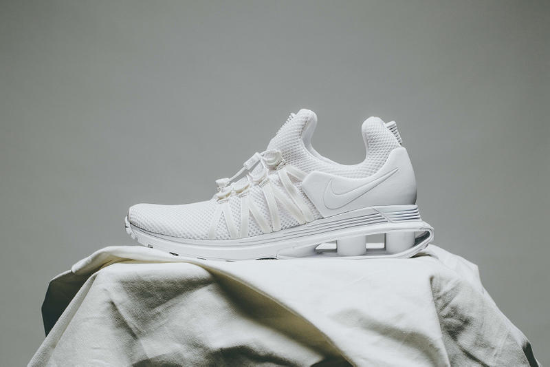 Nike Shox Gravity Triple White Colorway Clean Monochrome Invincible how to  buy cop purchase sneakers trainer e9610a84c