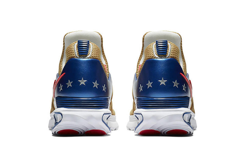 Nike Shox Gravity USA Closer Look Shoes Kicks Trainers Sneakers Gold Blue Red Silver Stars five For Sale Availability Purchase Information