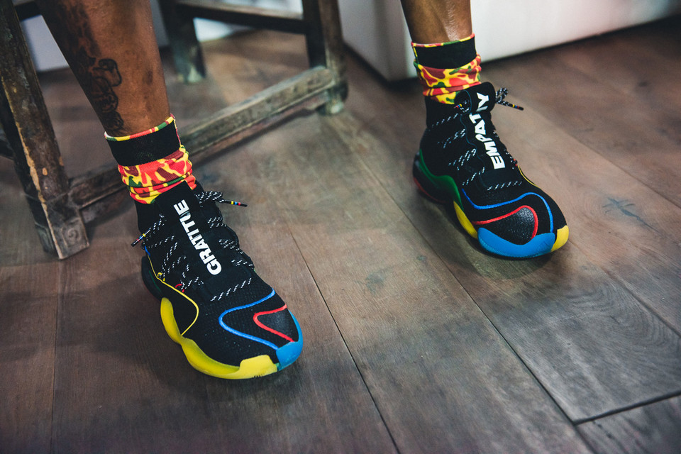 30a41306285 Pharrell Debuts Collaborative adidas Crazy BYW X