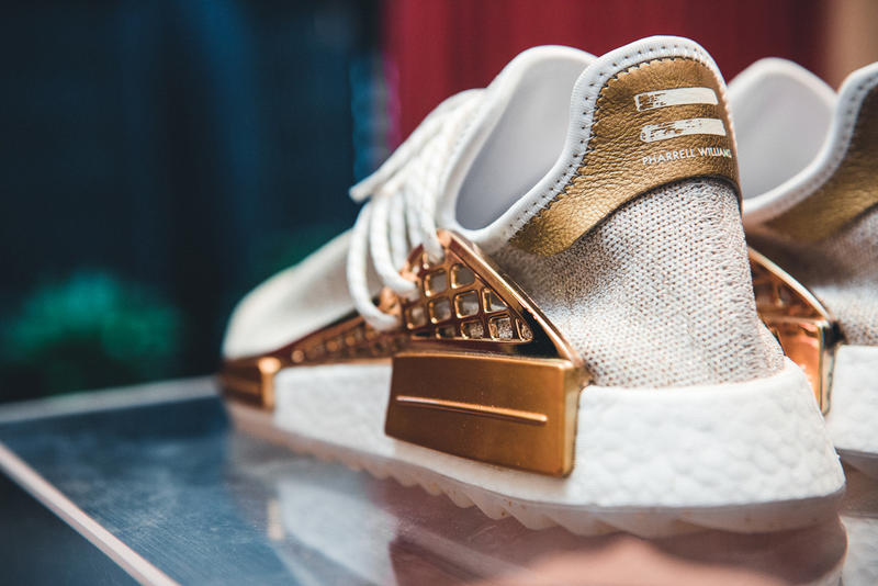 Pharrell x adidas NMD Hu China Exclusive Pack Metallic Gold Friends and Family