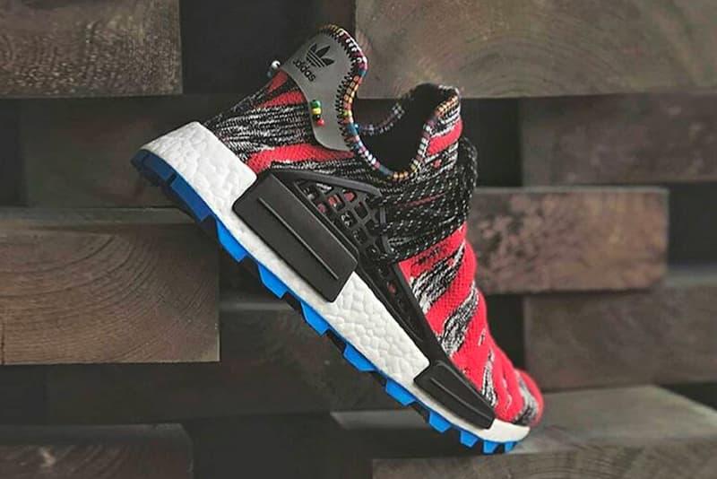 668f3b658b06c Pharrell Williams adidas Originals Hu NMD Trail Afro Pack closer look