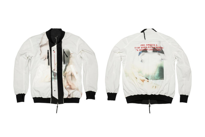 Phil America 11 BY BORIS BIDJAN SABERI 11BYBBS A Modern Love Story Capsule Collection Bomber Jacket MA-1 Zip Up Hoodie T-Shirt Shorts