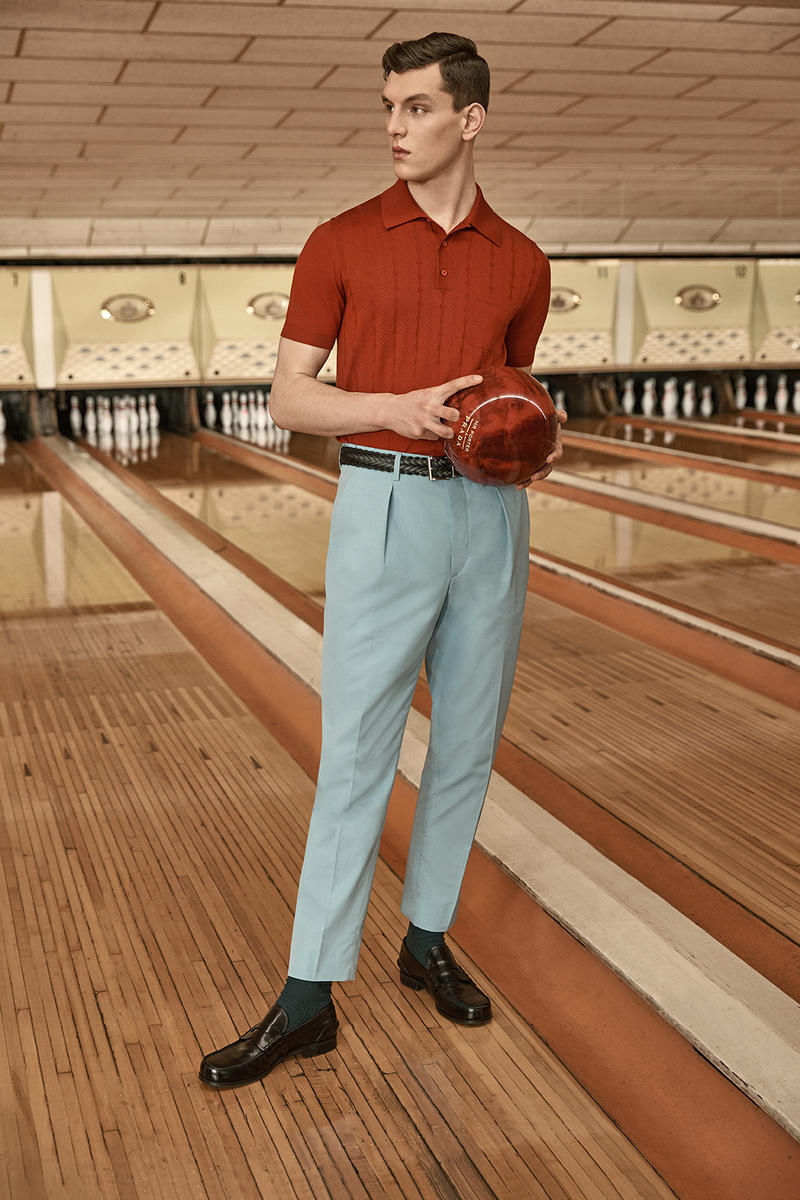 Prada x MR PORTER 2018 Lookbook Collaboration Bowling Inspired Collection Capsule Collaboration For Sale Availability Pricing Release Information