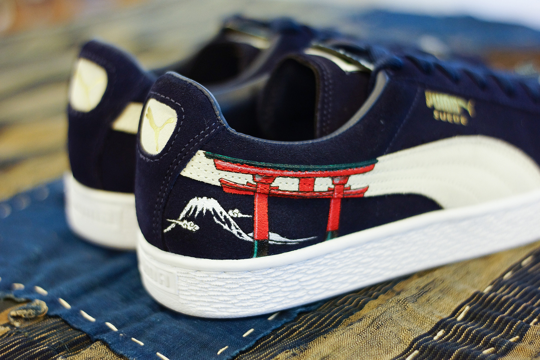 The PUMA Suede Sees a Traditional Ukiyo