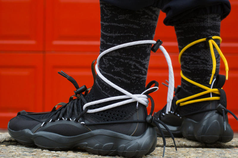 Pyer Moss Reebok DMX Fusion Experiment Friends Family black yellow 2018 sneakers shoes footwear