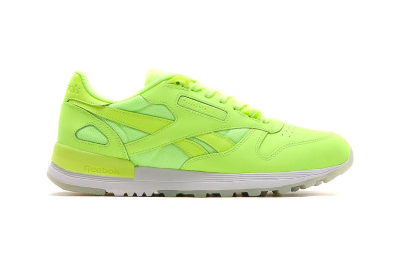 9792da222cb8de Reebok Classic Leather 2.0 Glow In The Dark Pack Release Neon Volt White  Black