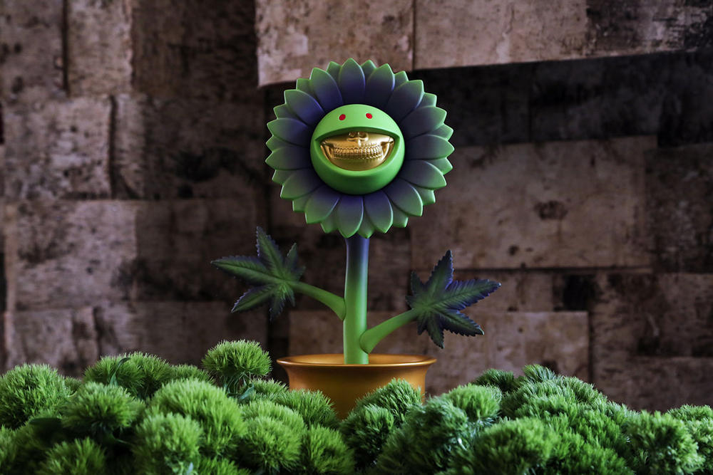 Ron English Compound SpongeBob Ganja Grin Sculpture Made By Monsters Set Free