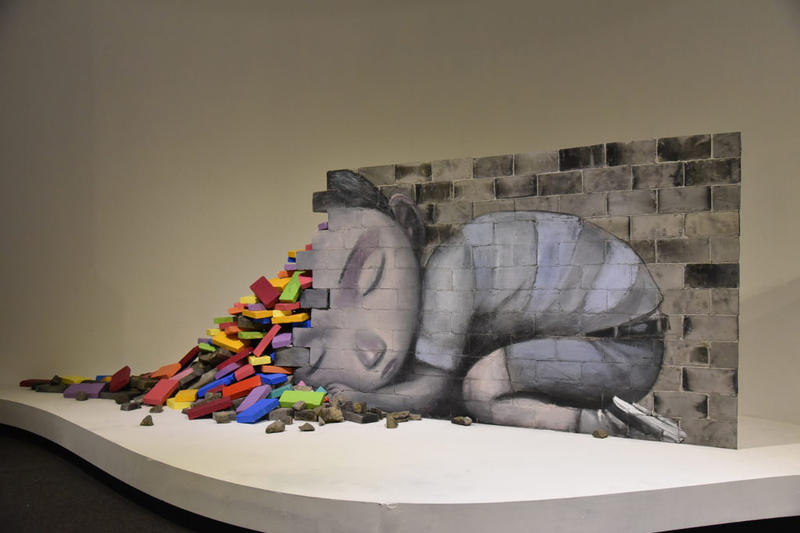 seth globepainter like childs play exhibition exhibit art artwork sculptures paintings moca shanghai