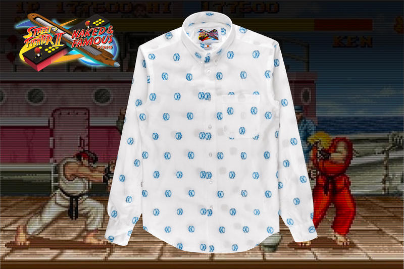 Street Fighter II Naked Famous Round 2 Collaboration collection denim jeans button down up shirts 2018 release date info drop