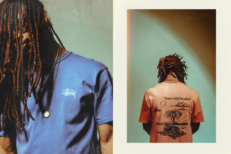 Stüssy Spring Summer 2018 lookbook feature sneaker boutique shirts T-shirts shorts release info