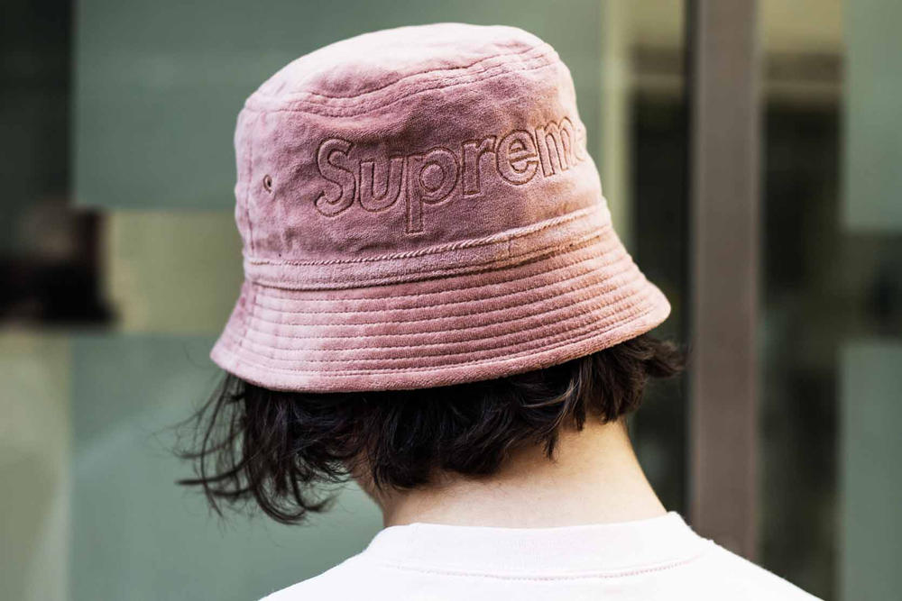 Supreme Lacoste Spring/Summer 2018 Street Style Street Snaps Soho London New York Stores Retail Velour Clothing