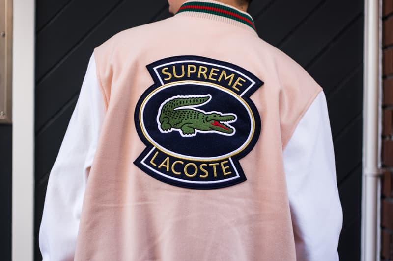 9894fb064e04c Supreme Lacoste Spring Summer 2018 Street Style Street Snaps Soho London  New York Stores Retail