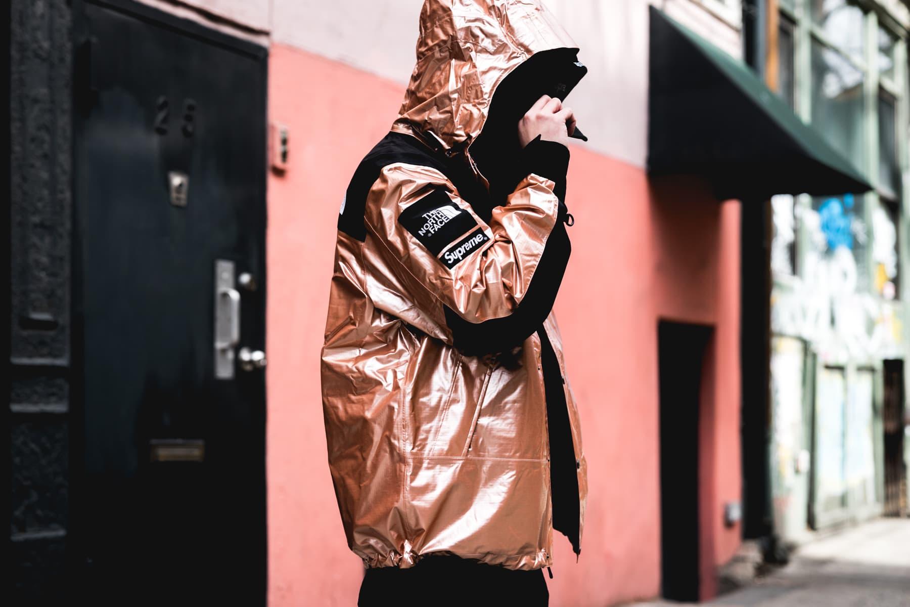 Supreme X The North Face Metallic Street Style Hypebeast