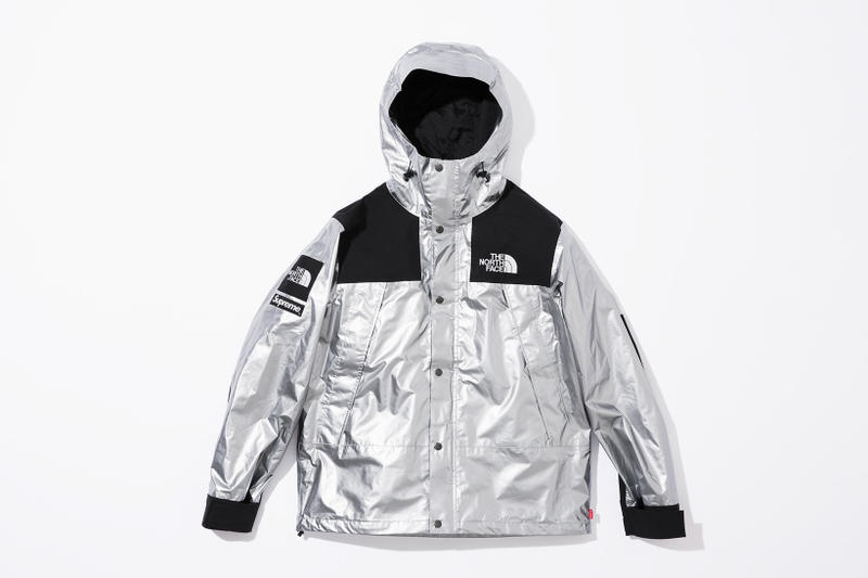 Supreme X The North Face Metallic Spring 2018 Collection Gold Silver Rose Mountain Parka Roo