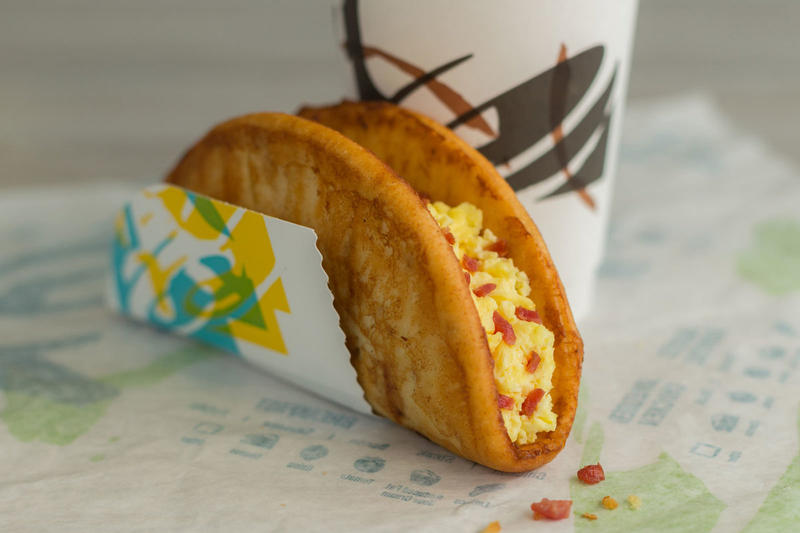 Taco Bell French Toast Chalupa Naked Egg Queso Quesarito Beefy Crunch Burrito breakfast menu
