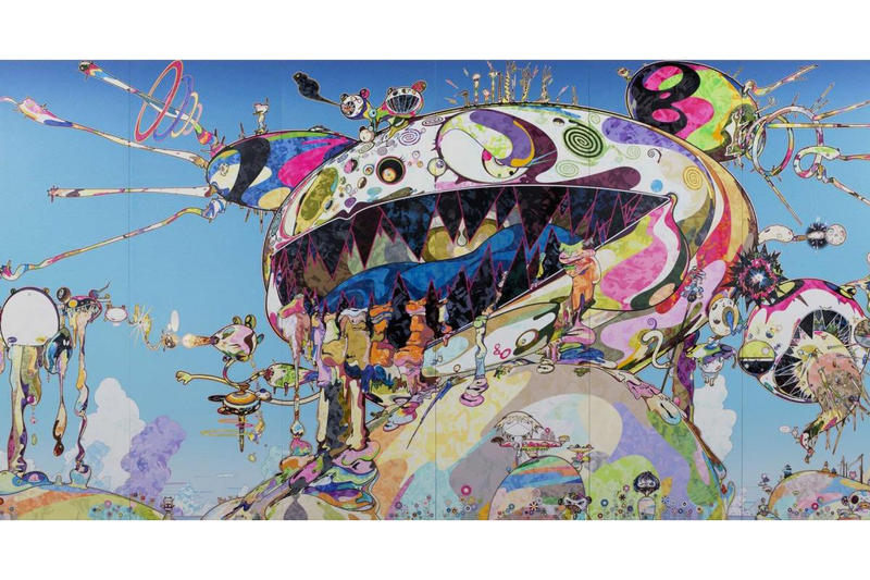 takashi murakami fondation louis vuittion exhibit henri matisse maurizio cattelan yves klein pierre huyghe dan flavin art artworks paintings show