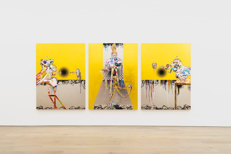 takashi murakami gallerie perrotin heads heads exhibition paintings francis bacon soga shohaku art artworks