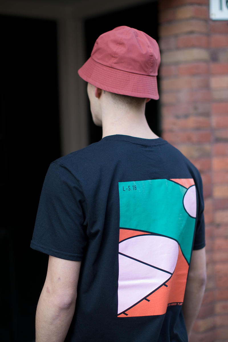 The Long Shot Exp. Experiment Spring/Summer 2018 Lookbook Collection Manchester Made In Britain Handmade capsule hats bags T-shirts tees graphic screen printed