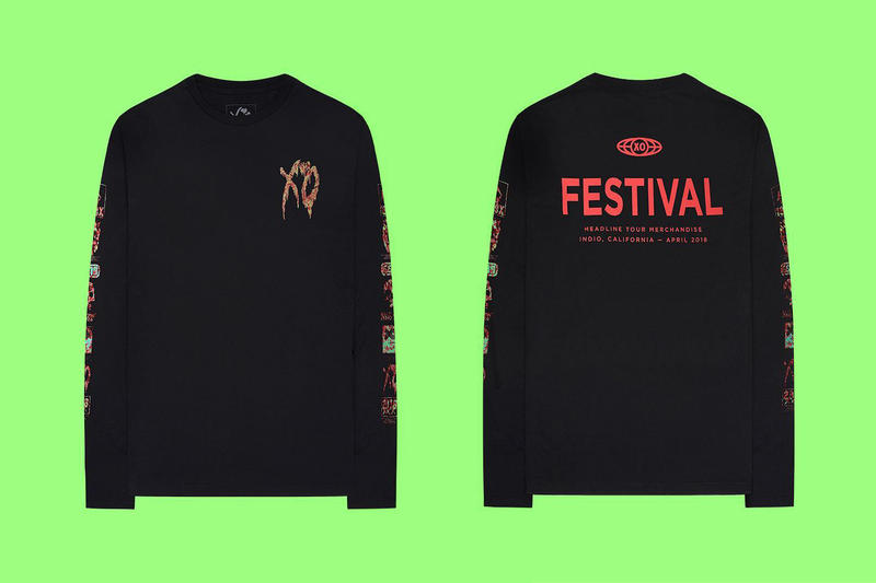 The Weeknd Limited edition Festival Merchandise XO star boy coach jacket long sleeved tee shirts coachella