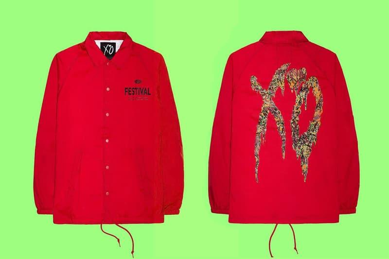 The Weeknd Limited edition Festival Merchandise XO star boy coach jacket long sleeved tee shirts coachella