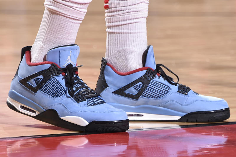 b18ef5a6ab6 Travis Scott Air Jordan 4 houston oilers Release Date 2018 june jordan  brand footwear cactus jack