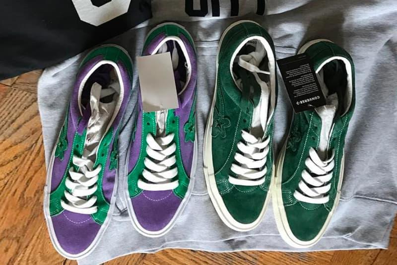 Tyler, The Creator's GOLF le FLEUR* Converse green purple sneakers footwear