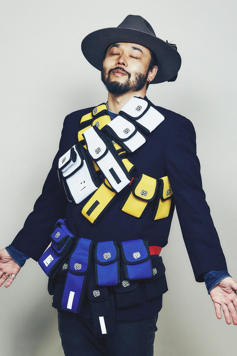 UNDERCOVER FULL-BK DJ DARUMA Poggy the man motofumi collaboration bag spring summer 2018 collaboration collection drop release launch date info april 28 2018 japan lab madstore isetan bag pouch waist body black white blue yellow