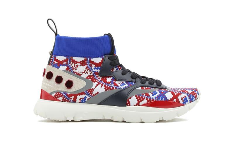 Valentino Heroes Tribe Sneakers Spring Summer 2018 drop release leather fringe skirt mocassin runway maison garavani runner designer sneaker design Pierpaolo Piccioli