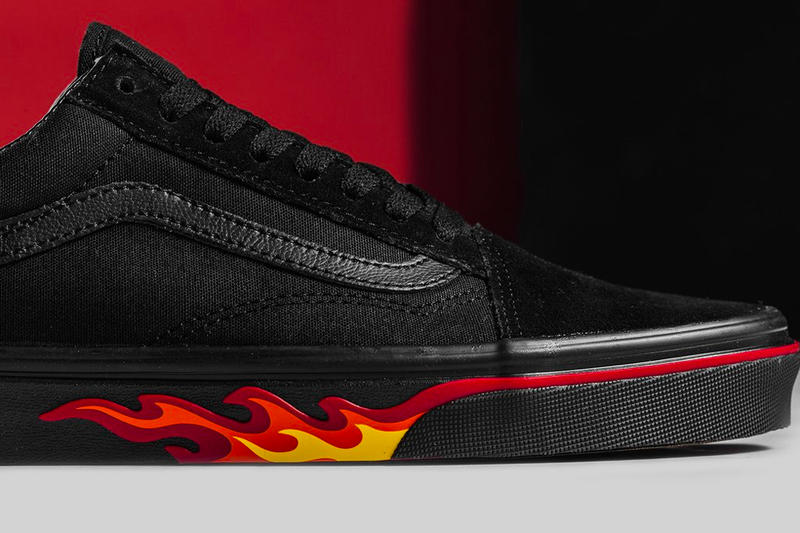 Vans Flame Wall Collection Authentic Slip-On Old Skool black red yellow  release info dd4b1b332