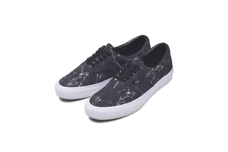 Vans japan fabrics collection monalisa digital print era old skool slip on sneaker shoe april 17 2018 drop release abc mart leaf marble paper