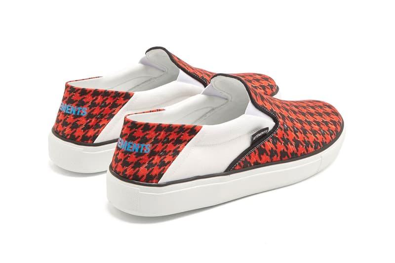 Vetements Houndstooth Slip-On release info sneakers footwear red black