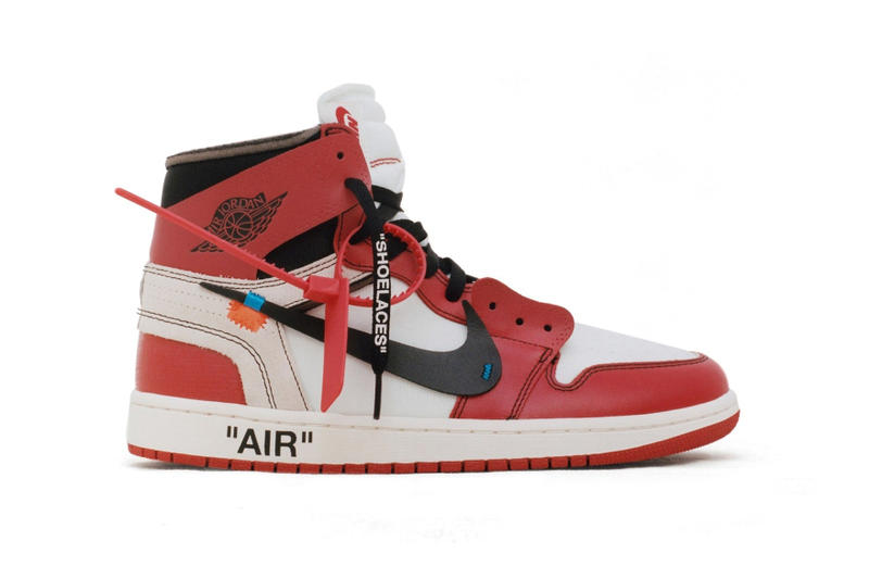 Virgil Abloh Air Jordan 1 Restock the ten chicago white black red footwear 2018