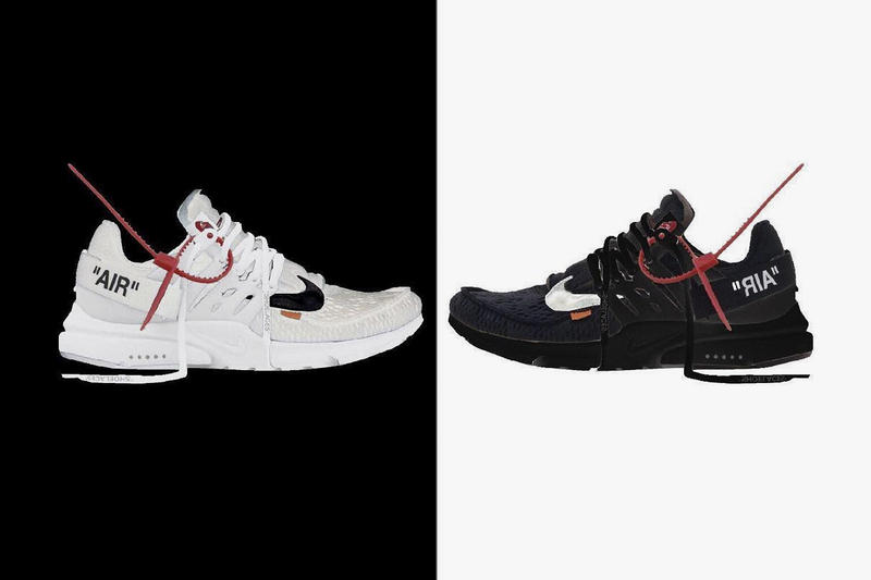 Virgil Abloh Nike Air Presto black white leak 2018 release date info drop sneakers shoes footwear collaboration the ten rumor leak
